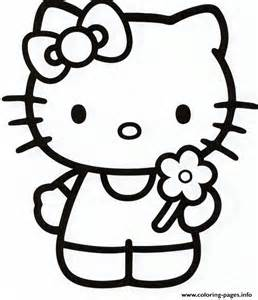 258x300 White Cat Printable Hello Kitty Coloring Pages Print Color