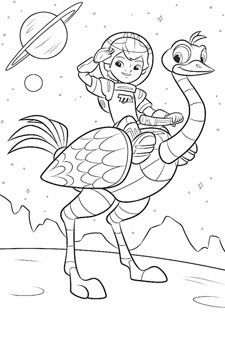 Miles From Tomorrowland Coloring Pages At Getdrawingscom Free For
