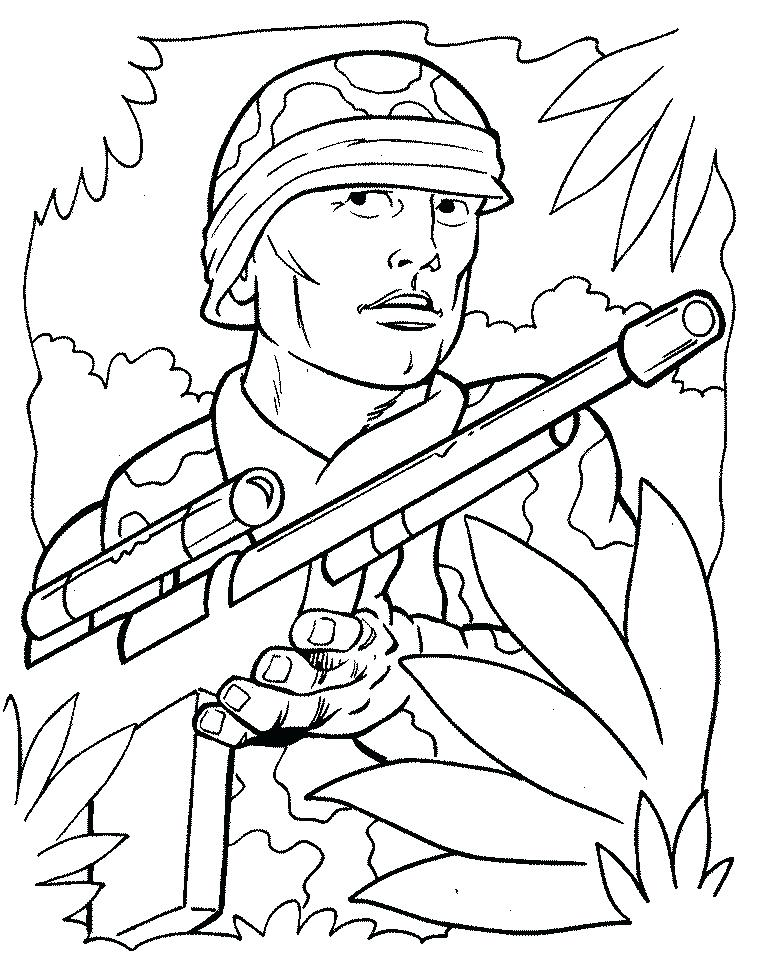 760x965 Military Coloring Page Army Pictures Print