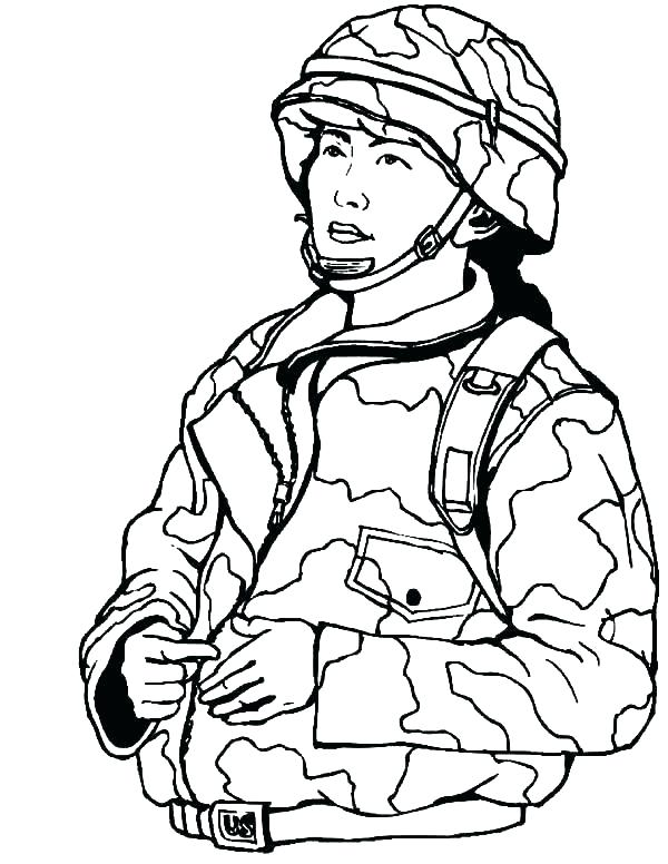 600x776 Military Coloring Page Thank You Military Coloring Pages Kids