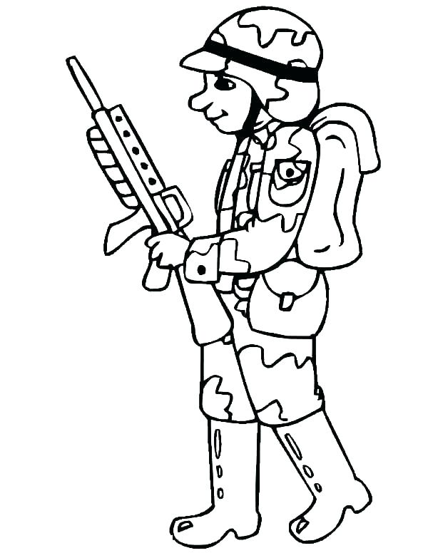 600x776 Coloring Pages Of Army Soldiers Soldiers Coloring Pages Printable