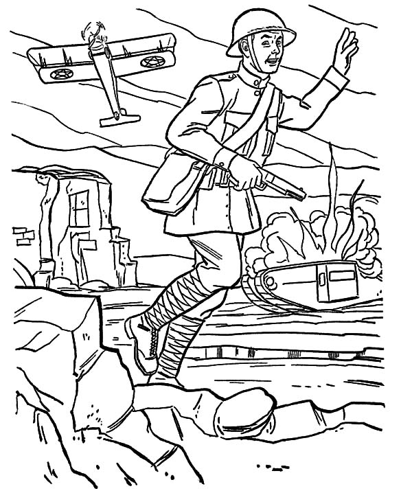 600x734 Soldier Army Coloring Pages Picture Free Printable World War