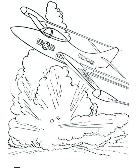 550x672 Military Coloring Page
