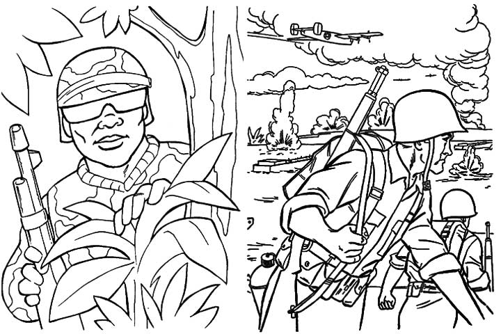 720x480 Attractive Thank You Military Coloring Pages Pictures