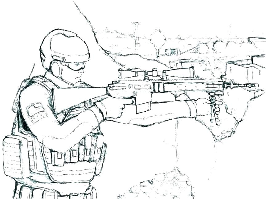 863x647 Military Coloring Pages
