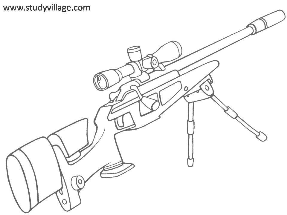 Military Gun Coloring Pages at
