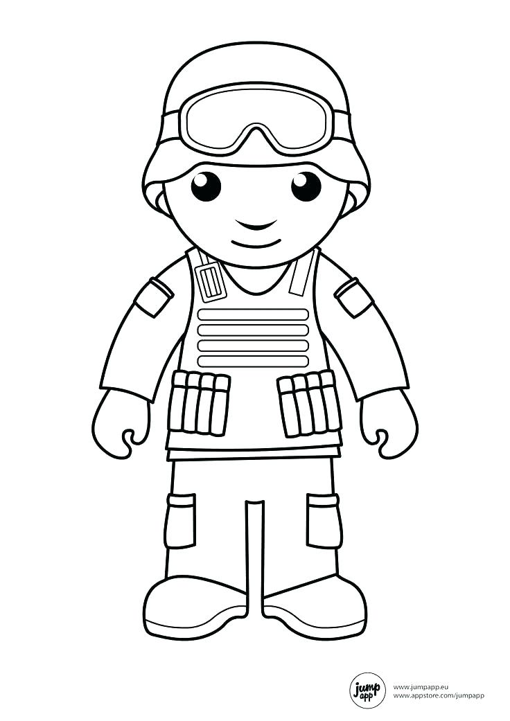 Military Soldier Coloring Pages At Getdrawings Com Free