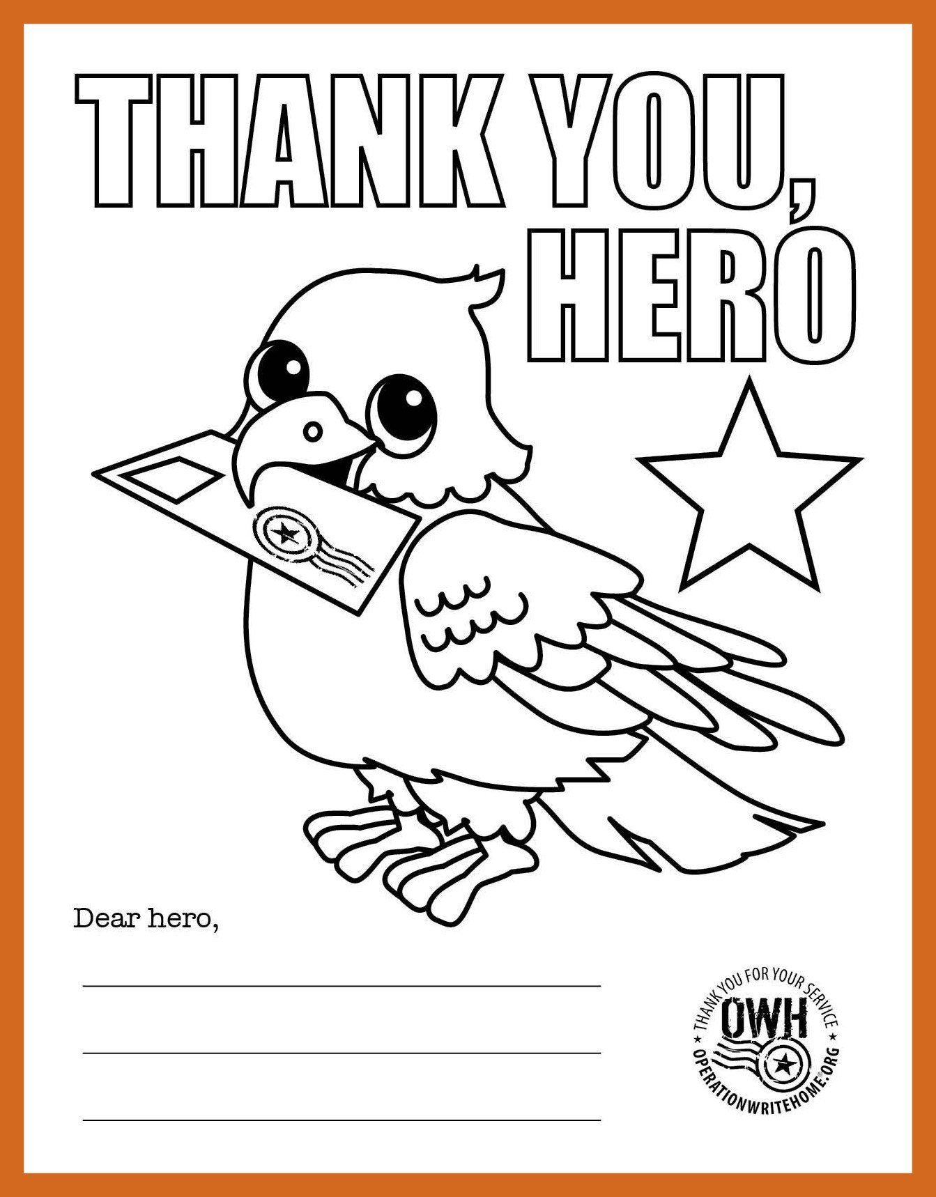Military Thank You Coloring Pages
