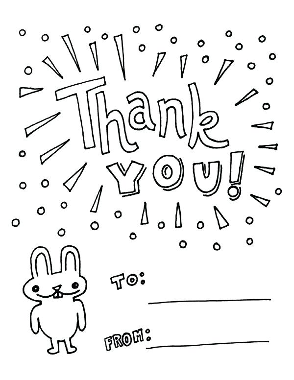 600x776 Thank You Coloring Page Thank You Coloring Pages Also Watch More
