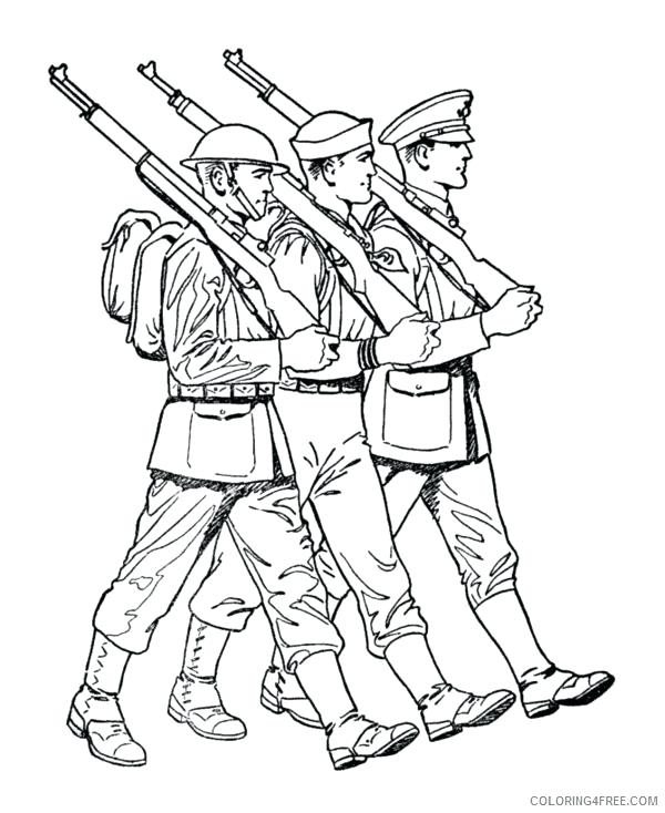 600x734 Military Coloring Pages Military Coloring Pages Printable Military