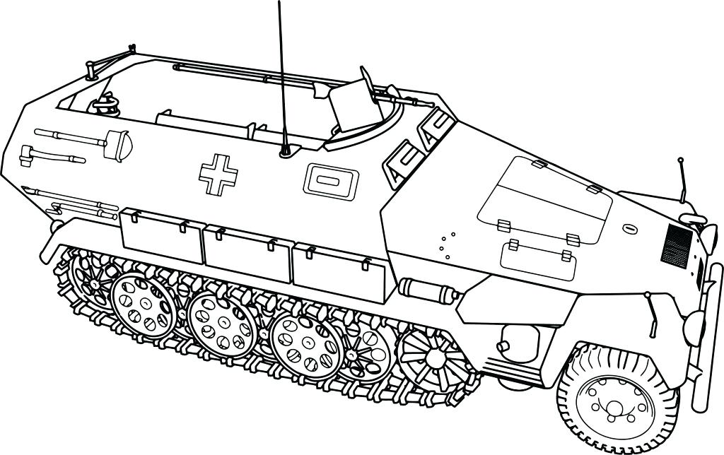 Military Truck Coloring Pages At Getdrawings Free Download