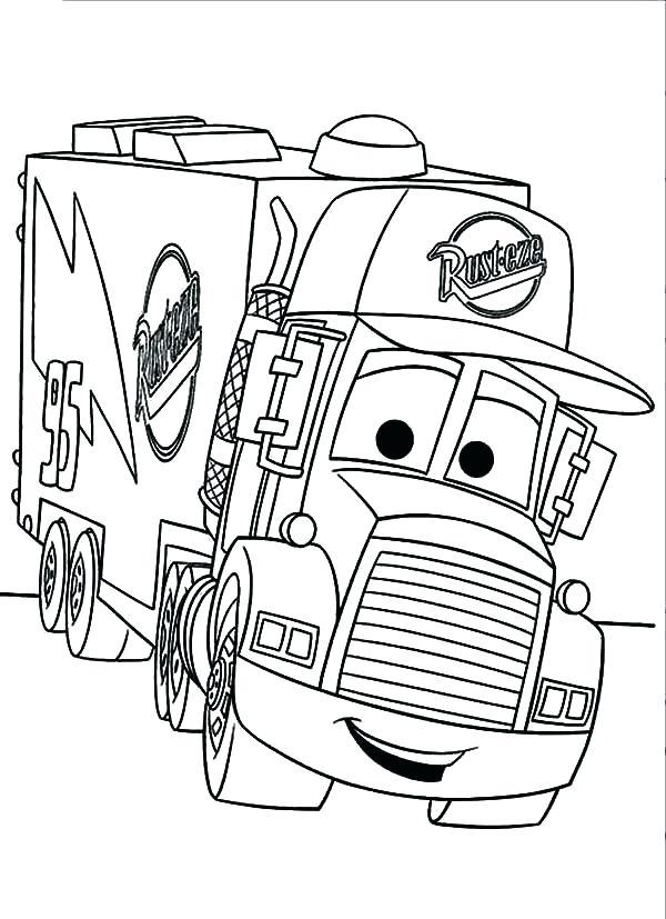 600x827 Coloring Trucks