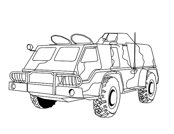 600x464 Army Vehicles Coloring Pages
