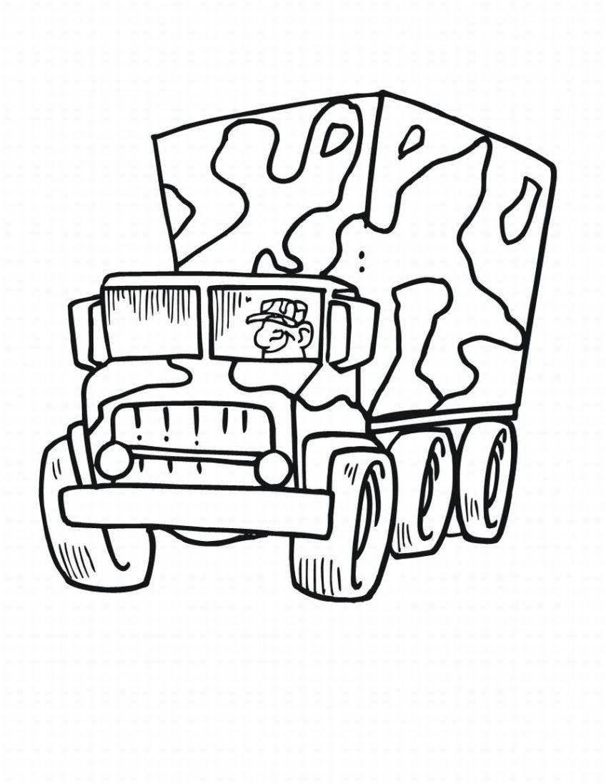 848x1097 Unbelievable Army Truck Coloring Pages For Kids Coloringstar