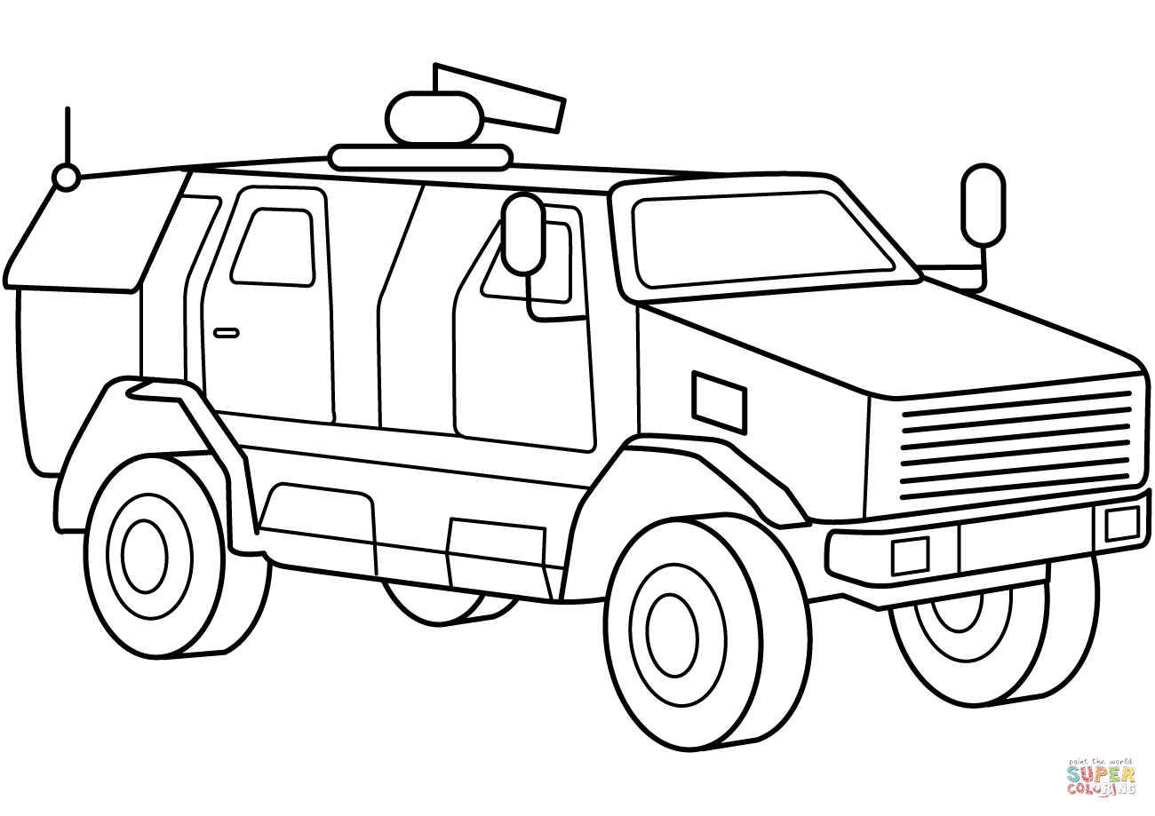 military vehicles coloring pages 5