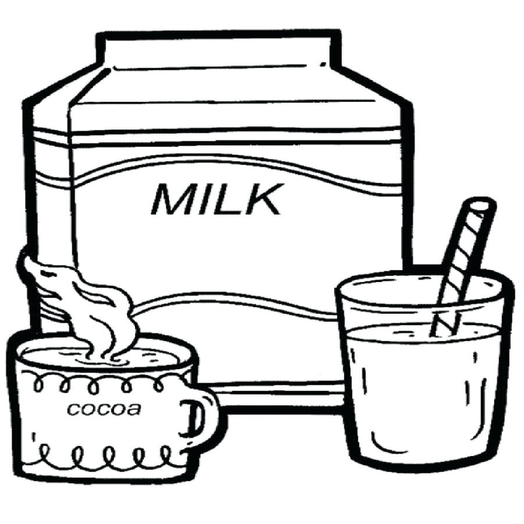 Milk Carton Coloring Page