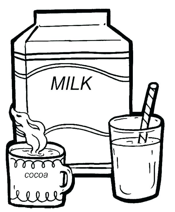 610x740 Milk Coloring Pages A Healthy Milk From Milk Carton Coloring Page