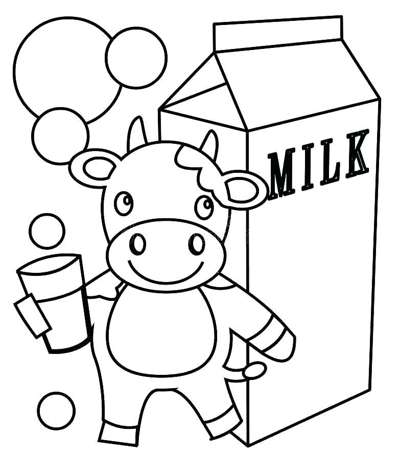 781x900 Milk Carton Coloring Page