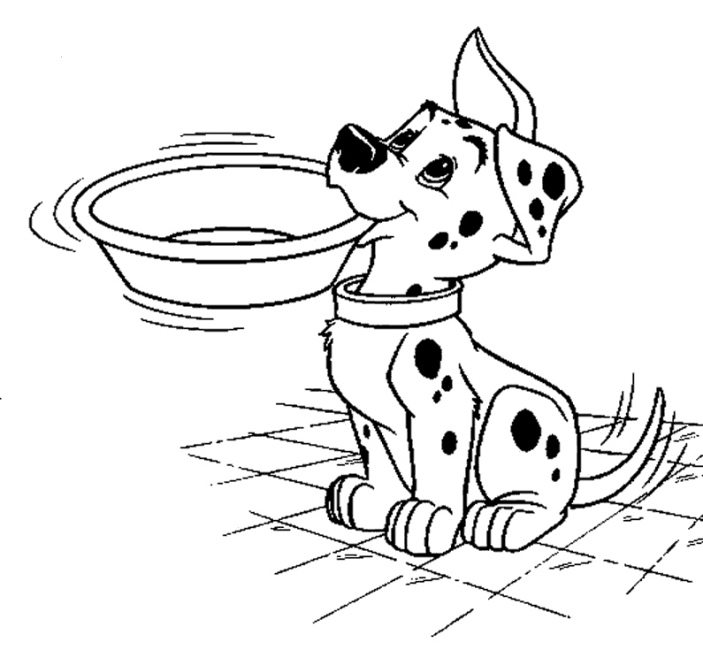 703x650 Dalmatian Asking For Milk Coloring Page Animal Pages