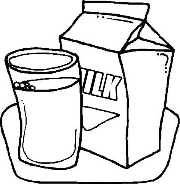 600x613 Delicious Milk In Milk Carton Coloring Page