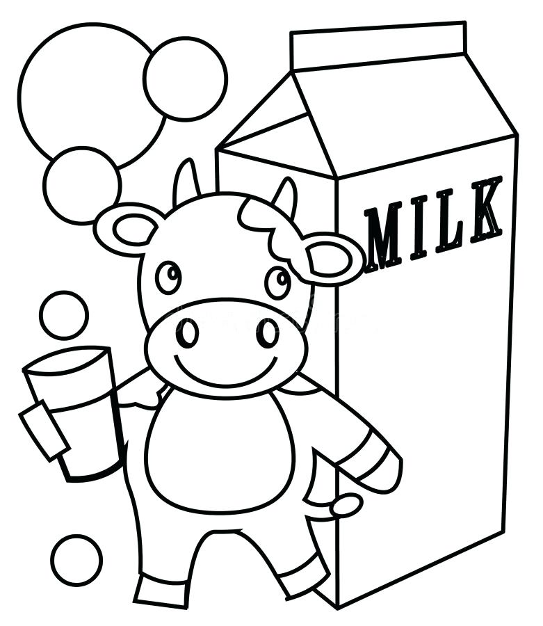 781x900 Milk Coloring Page Download Milk Coloring Page Stock Illustration