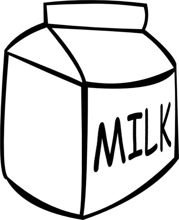 600x737 Picture Of Milk Carton Coloring Page