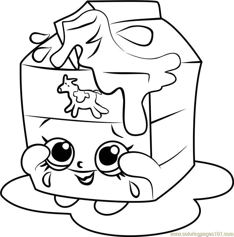 790x800 Spilt Milk Shopkins Coloring Page