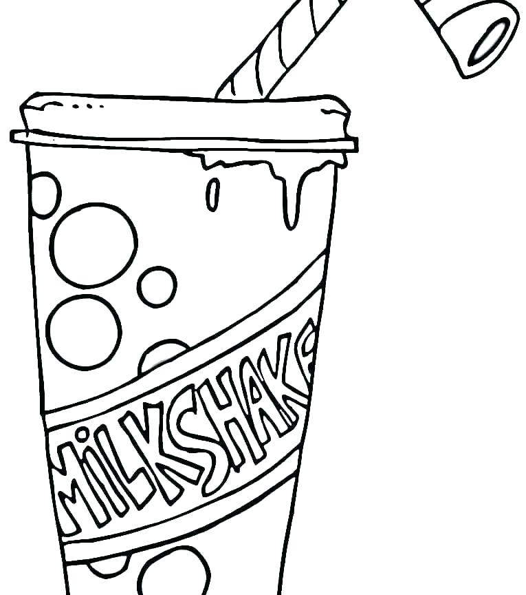 765x864 Milk Coloring Page