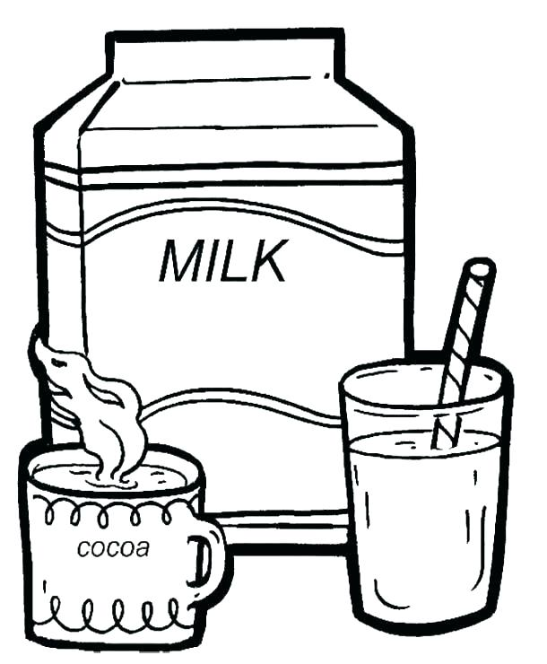 610x740 Milk Coloring Page Milk Coloring Page Milk Coloring Page Cocoa