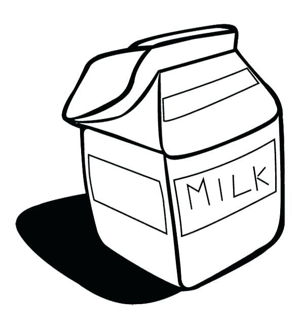 600x661 Milk Coloring Page Milk Colouring Page Milkshake Coloring Page