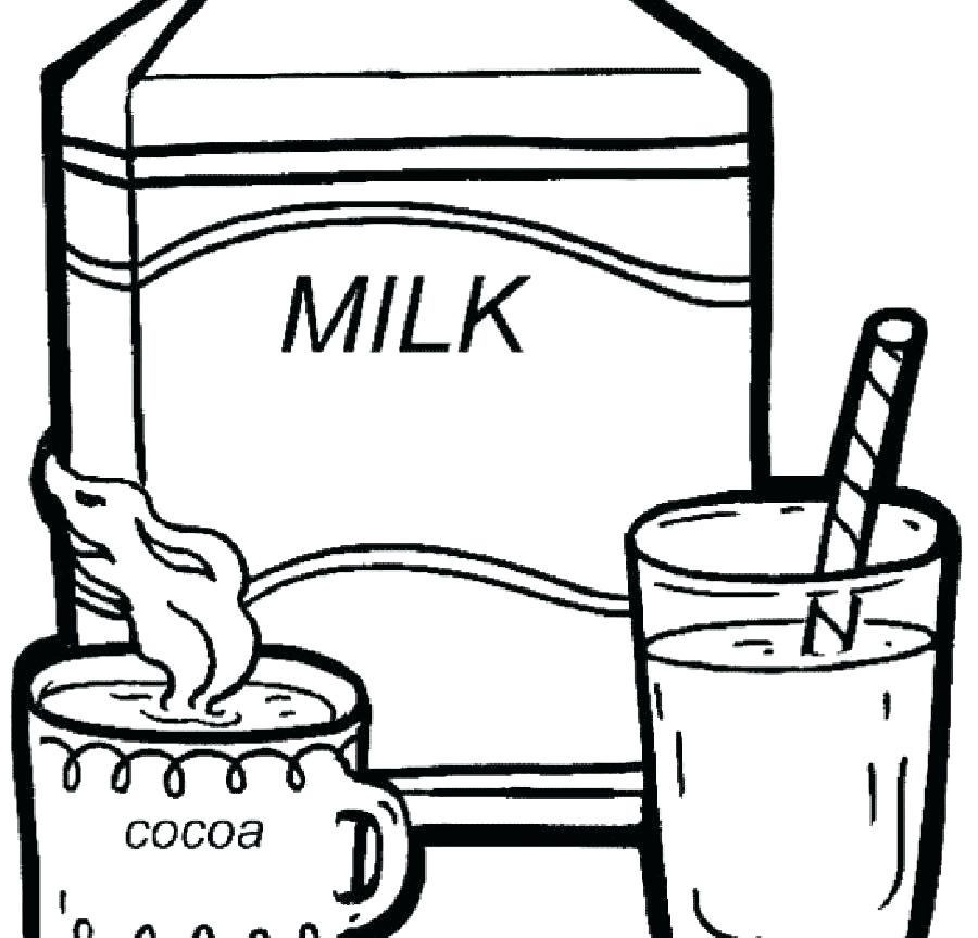 900x864 Milk Coloring Page Two Bottle Milk Coloring Page Milkshake