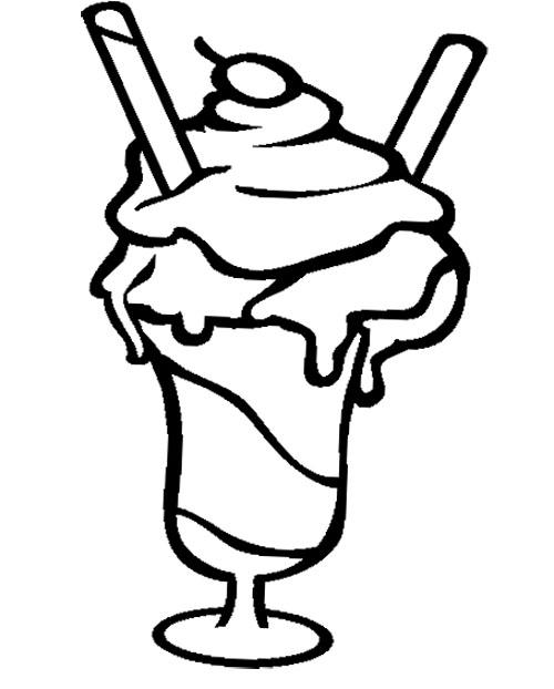 500x622 Milkshake Coloring Page