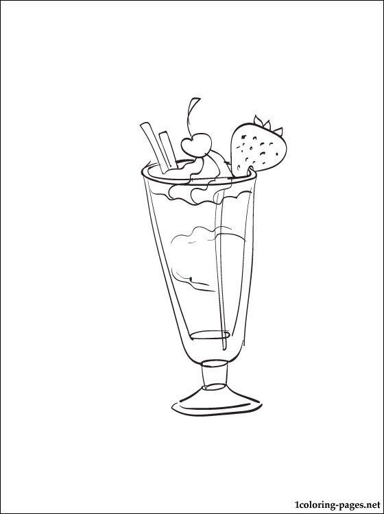 560x750 Milkshake Coloring Page Coloring Pages