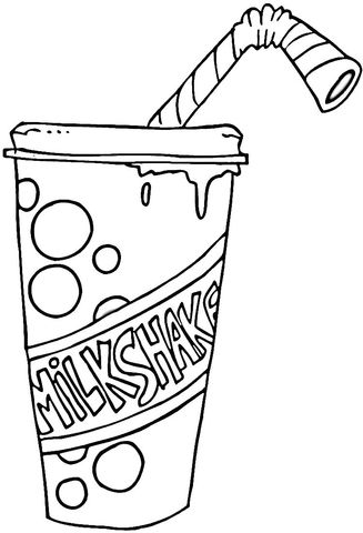 327x480 Strawberry Milkshake Coloring Page Free Printable Coloring Pages