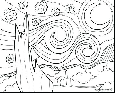 400x322 Coloring Pages Christmas For Adults Night Sky Clear Winter
