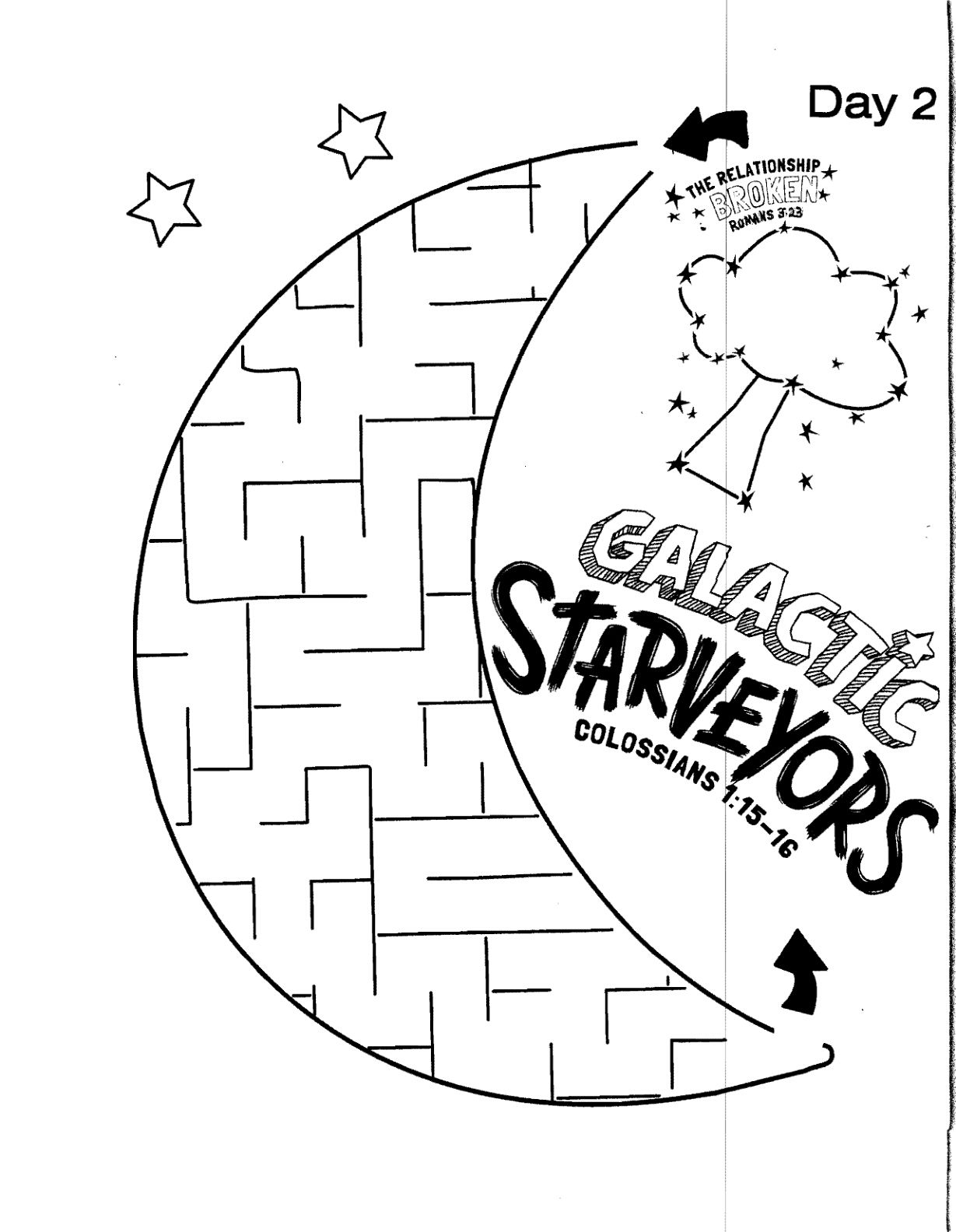 1229x1584 Galactic Starveyors Coloring Sheet Vbs Day