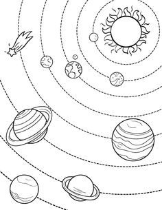 236x305 Solar System Coloring Sheets Vbs Solar System