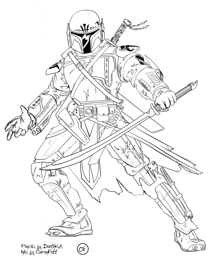 834x1024 Star Wars Coloring Pages