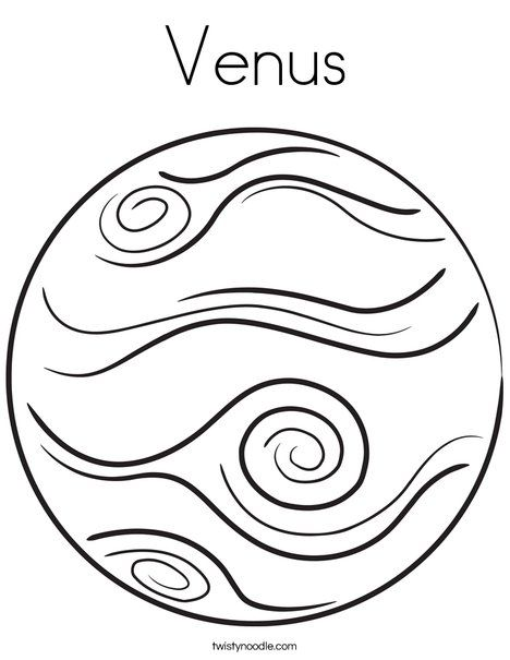 468x605 Venus Coloring Page