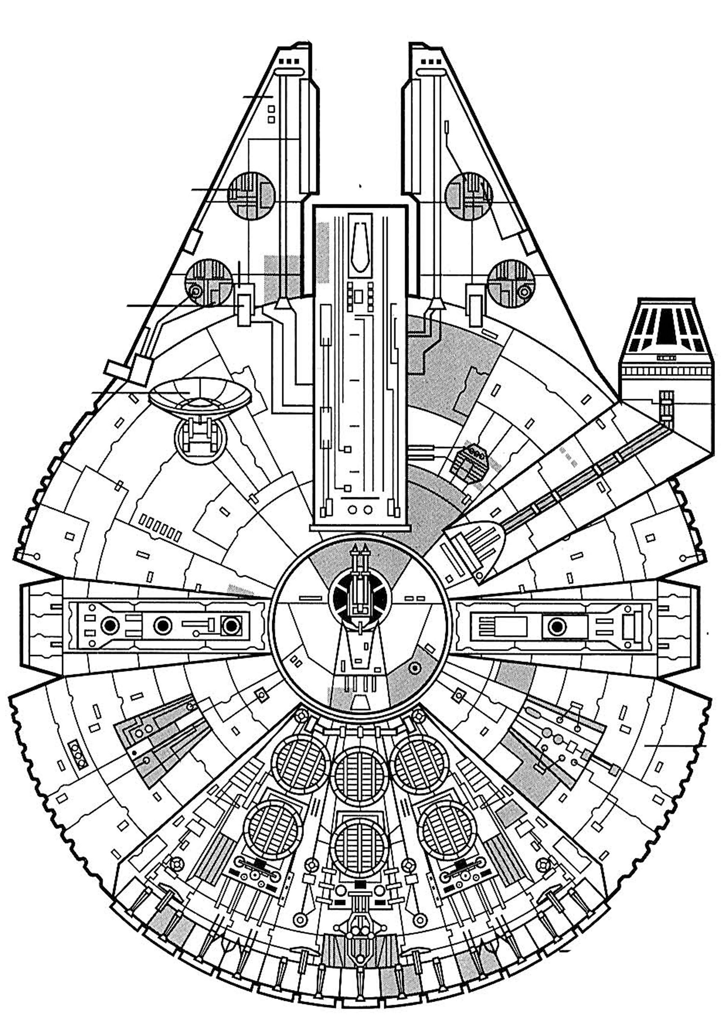 Millenium Falcon Coloring Page