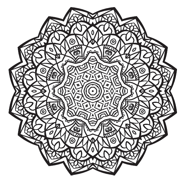 612x612 Free Colouring Pages Stunning Mandalas To Colour From Complete