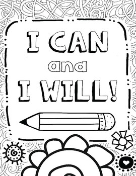 270x350 Growth Mindset Coloring Pages For Mindfulness, Set