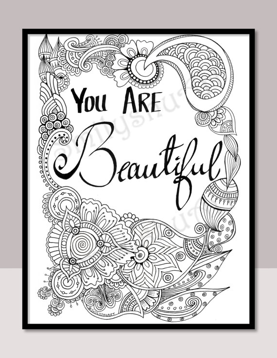 570x738 You Are Beautiful Instant Download Printable Motivational