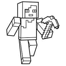 Minecraft Alex Coloring Pages