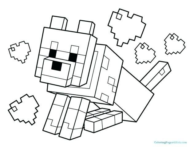 618x477 Minecraft Coloring Pages Coloring Pages Animals Terrific Print Out