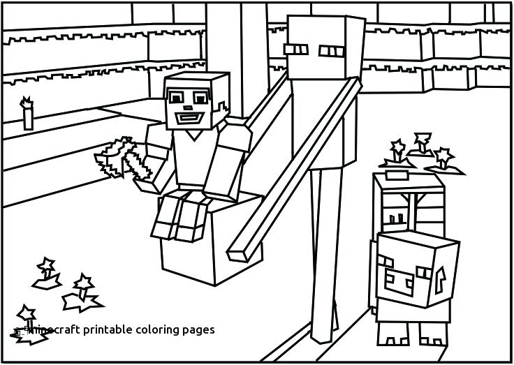 736x523 Minecraft Printable Coloring Pages Wonderful Design Printable