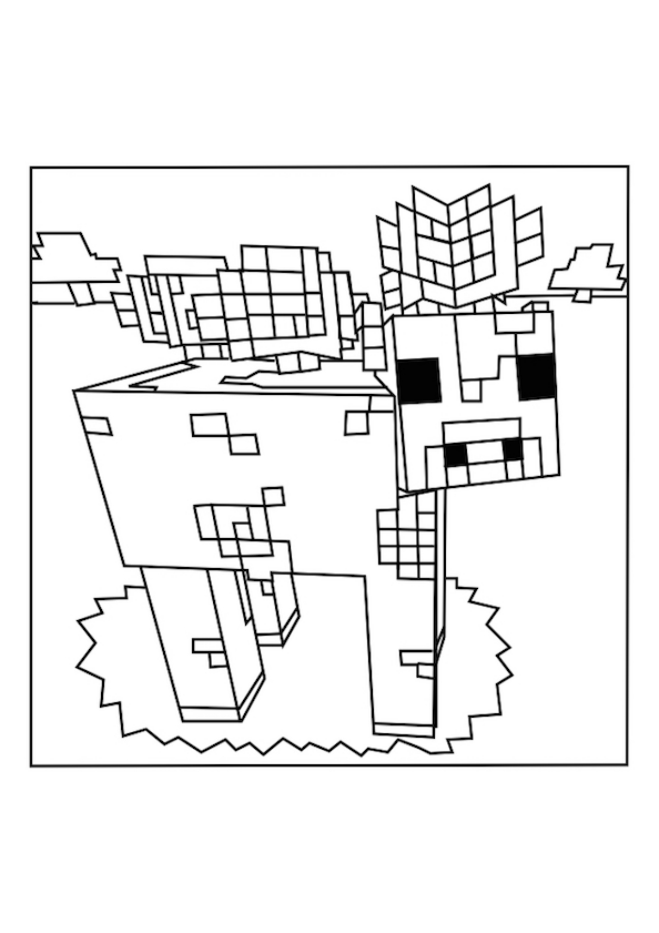 1295x1832 Minecraft Story Mode Coloring Pages Picturesque