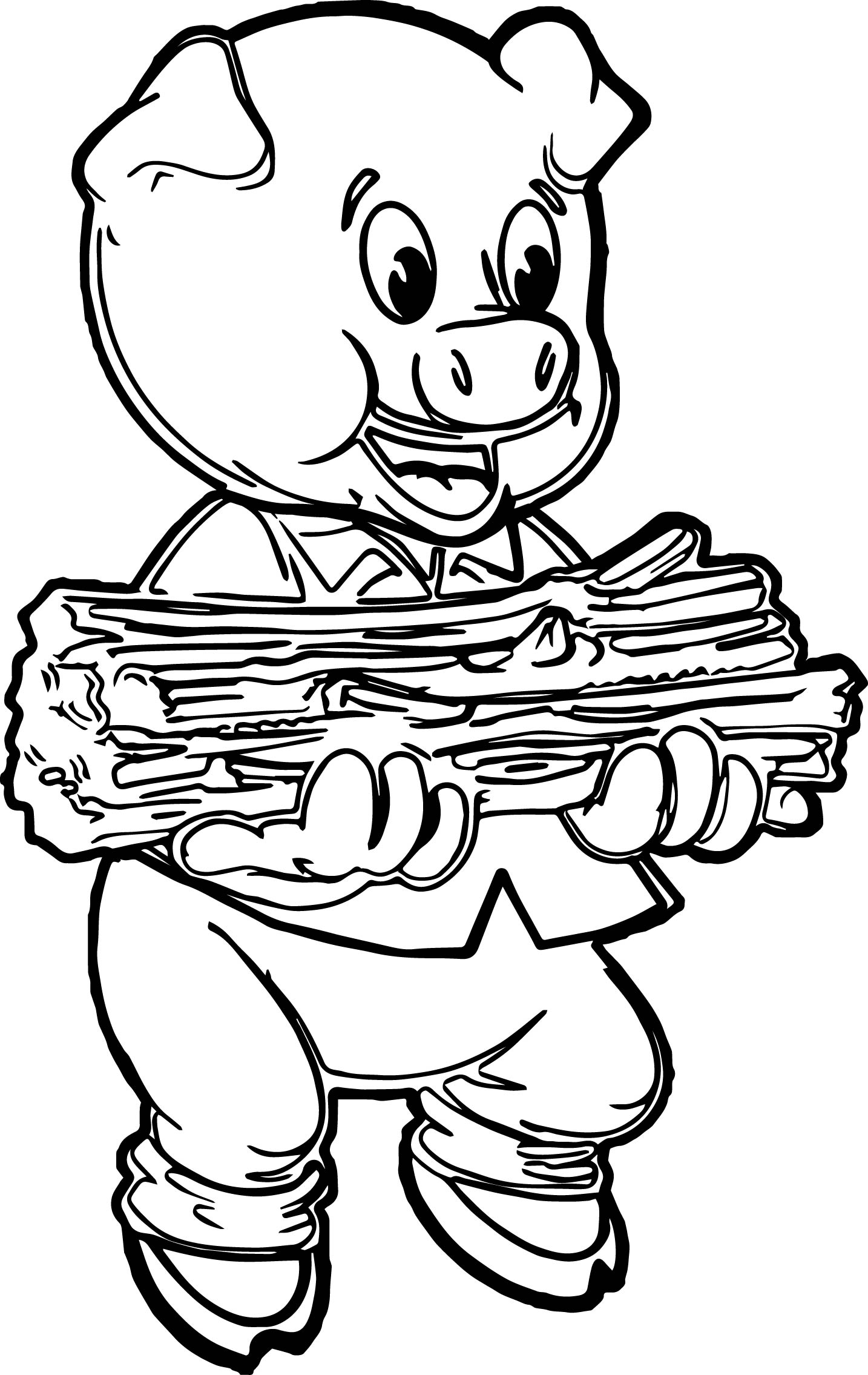 1434x2270 Printable Pig Coloring Pages For Kids Page Animal Minecraft Three
