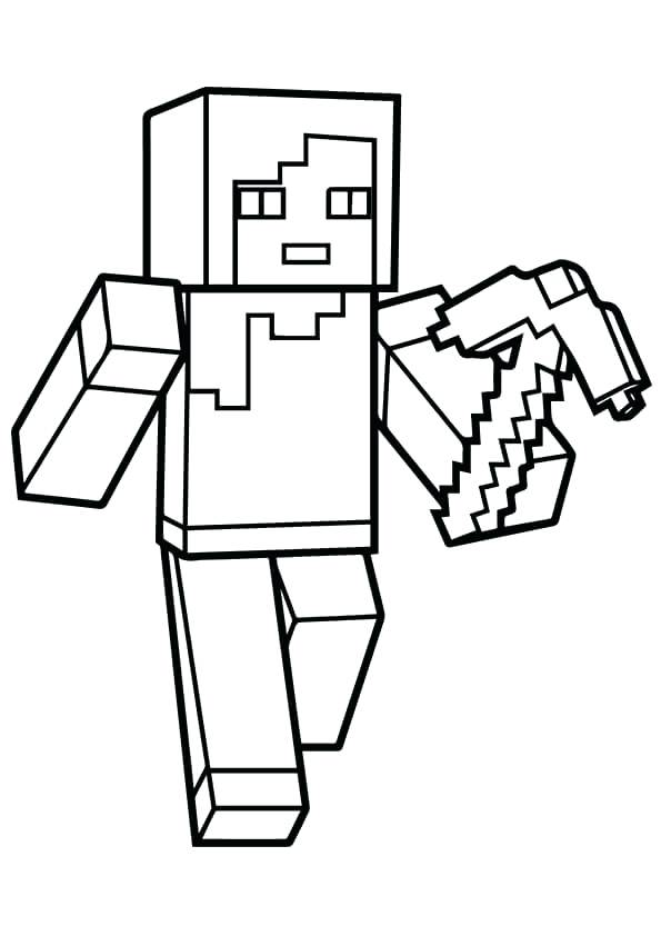 595x842 Minecraft Coloring Pages Printable Icontent