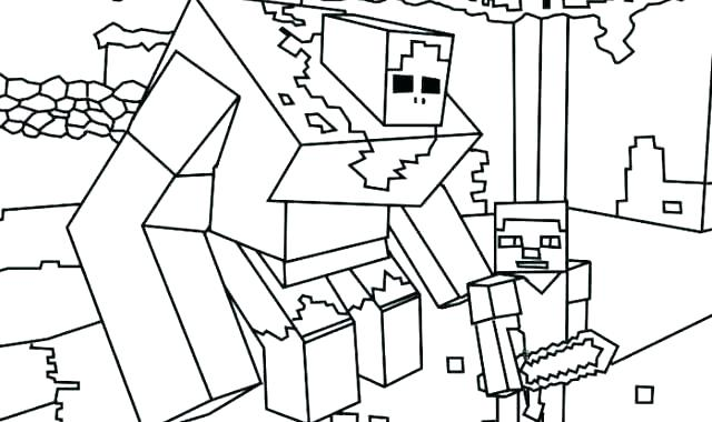 640x380 Minecraft Coloring Pages To Print